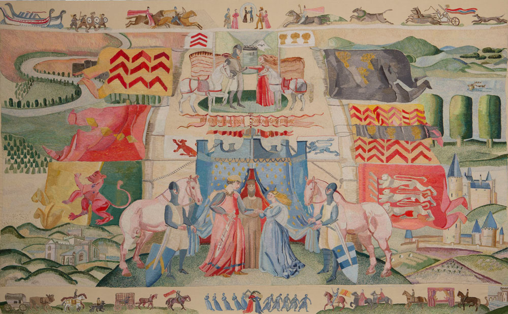 Ros Tapestry Panels - The Marriage of Isabel de Clare and William Marshall