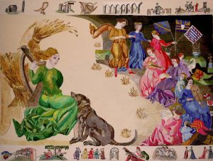 Ros Tapestry Panel - The Distaff Descent