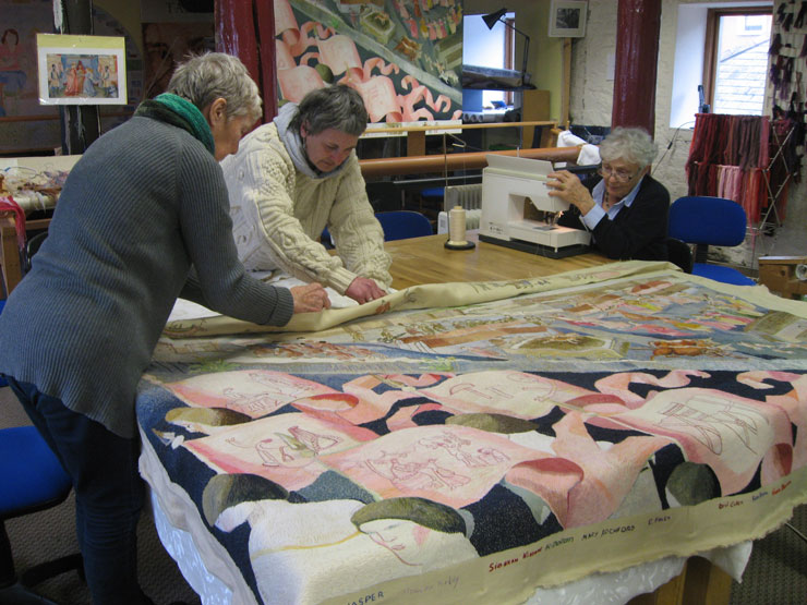 The first tapestry was completed in 2002 and to date 14 of the 15 tapestries are finished