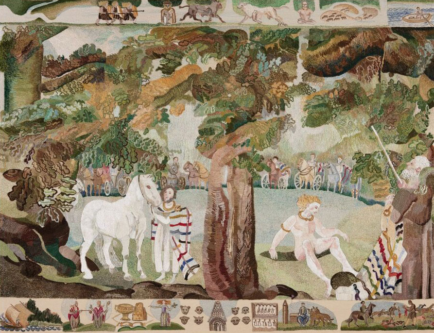 Ros Tapestry Panel - The Celts - an Island Fastness