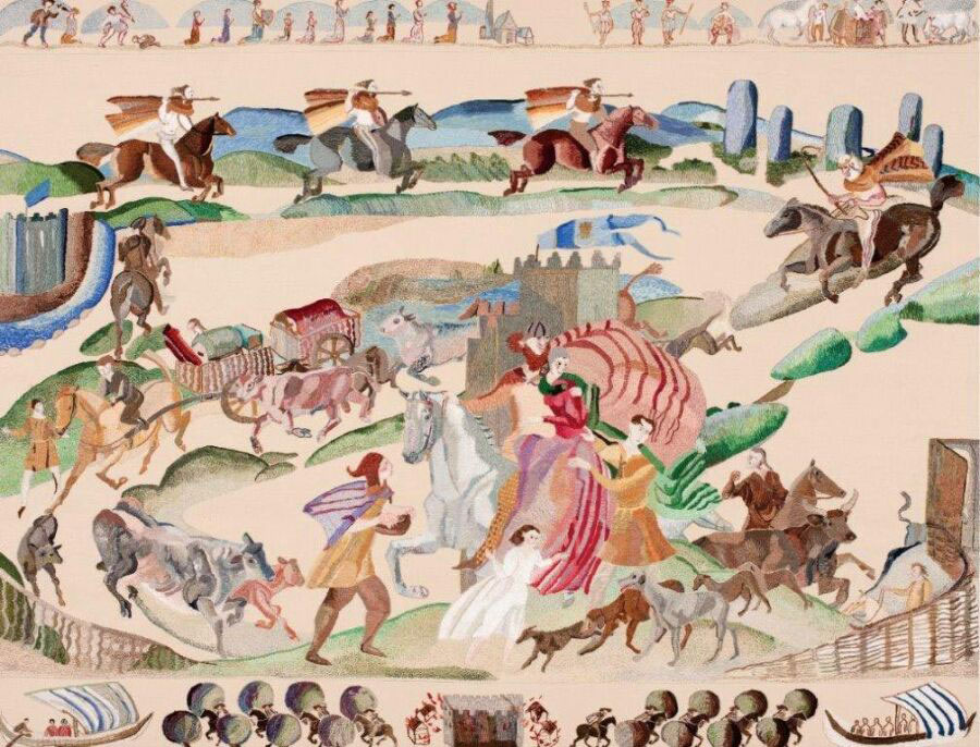Ros Tapestry Panels - The Abduction of Dervogilla